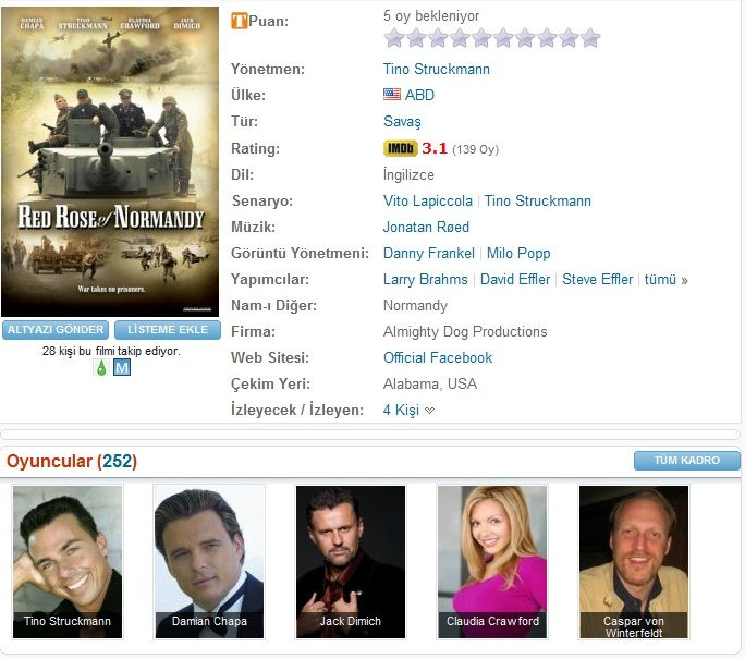 Red Rose of Normandy - 2011 BDRip XviD - Türkçe Altyazılı Tek Link indir